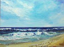 Strand, Urlaub, Wolken, Wasser