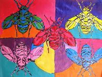 Insekten, Bunt, Biene, Pop art