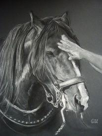Zeichnung, Schwarzweiß, Blesse, Hand