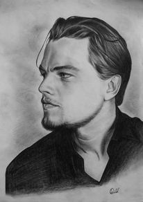Mann, Schwarzweiß, Portrait, Leonardo dicaprio