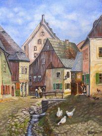 Bach, Frankenberg, Historische stadtansicht, Häuser