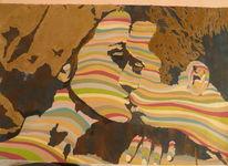 60er, Acrylmalerei, Film, Faye dunaway