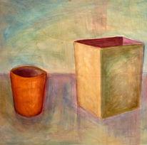 Vase, Stillleben, Malerei