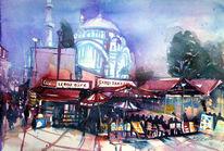 Markt, Türkei, Rote markisen, Istanbul
