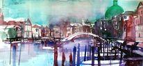 Venedig, Lagune, Aquarellmalerei, Italien