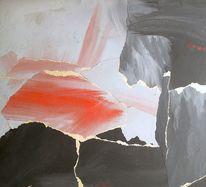 Romantik, Landschaft, Kleben, Collage
