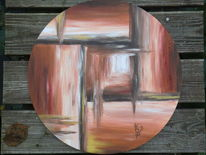 Modern, Weg, Licht, Acrylmalerei