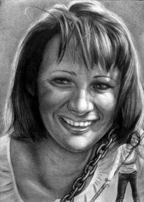 Portrait, Zeichnungen, Dame