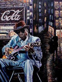 Berndtart, Bluesmusiker, Neonschilder, Post impressionismus
