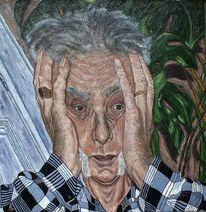 Selbstportrait, In der depression, Mein depressives ich, Malerei