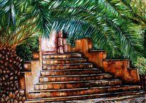 Finca, Palmen, Treppenaufstieg, Mallorca