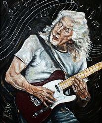 Britische, Portrait john mayall, Britischer musiker, Blues
