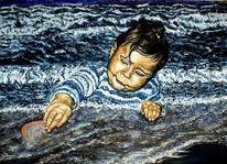 Little neptun, Meer, Wassergott als kind, Malerei