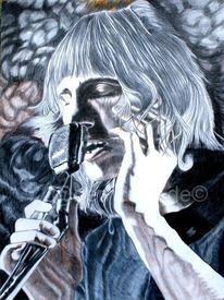 Zabrieski point, Buntstiftzeichnung, Ölmalerei, Roger waters