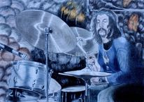 Ölmalerei, Pink flyds drummer, Studie, Zabriskie