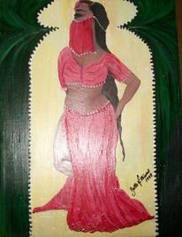 Tunesien, Afrika, Belly dancer, Malerei