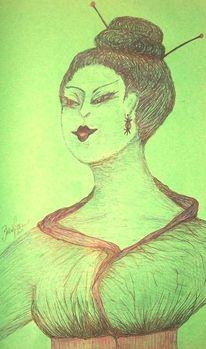 Zeichnungen, Geisha