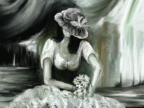 Fantasie, Frau, Hut, Blumen