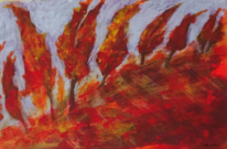 Landschaft, Acrylmalerei, Ausdruck, Herbst