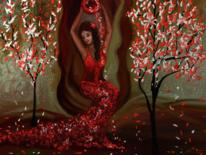 Fantasie, Malen, Frau, Digitale kunst