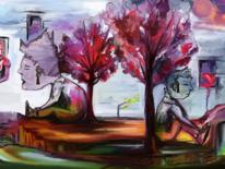 Fantasie, Malerei, Sohn, Vater