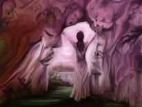 Fantasie, Frau, Alptraum, Rosa