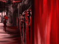 Rot, Fantasie, Frau, Regen