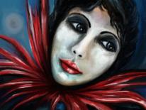 Frau, Fantasie, Blick, Digitale kunst