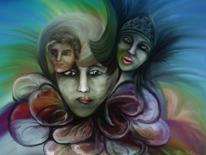 Fantasie, Frau, Farben, Traum