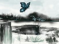 Landschaft, Fantasie, Wasser, Blumen
