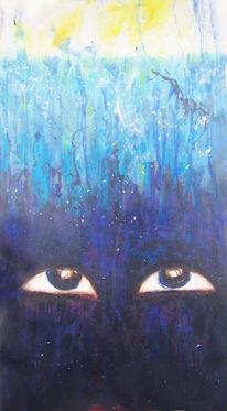Augen, Tiefe, Licht, Blau