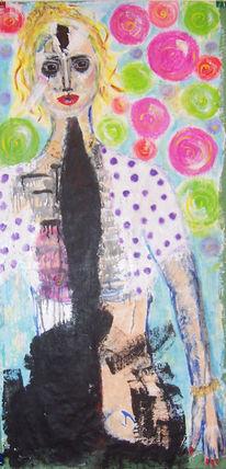 Krank, Barbie, Acrylmalerei, Brut