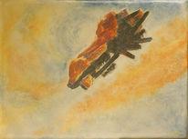 Flugzeug, Traurig, Realismus, Himmel