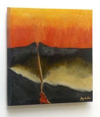 Zeitgenössische kunst, Vulkan, Realismus, Öko