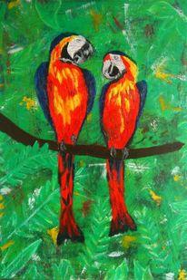 Vogel, Papagei, Tiere, Malerei