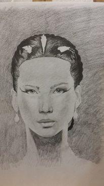 Mund, Gesicht, Augen, Zeichnen