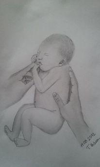 Baby, Hände, Zeichnungen, Menschen