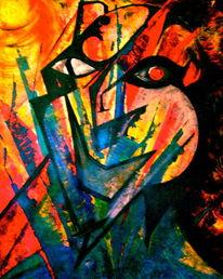 Menschen, Alptraum, Malerei, Krieg