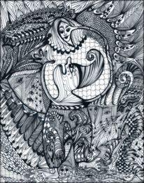 Tanglic, Zeichnung auf papier, Der zwerg, Zeichnungen