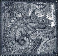 Tanglic, Kleines ungeheuer, Zeichnung auf papier, Zeichnungen