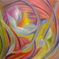 Fluss, Farben und formen, Traumwelten, Malerei