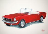 Acrylmalerei, Mustang, Malerei, Ford