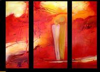 Mann, Rot, Paar, Energiebild