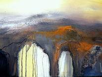 Abstrakt, Braun, Acrylmalerei, Landschaft