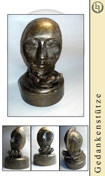 Bronze, Figur, Gehirn, Plastik