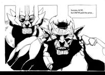 Alien warlords, Emotion, Bedeutsame botschaft, Comic