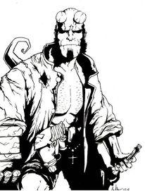 Comic, Hellboy, Zeichnungen