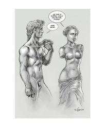 Venus, Skulptur, Statue, Zeichnungen