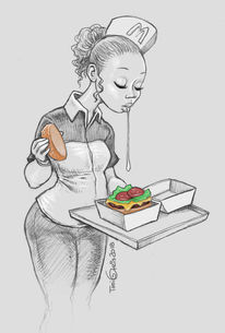 Mcdonalds, Spucke, Fast food, Zeichnungen