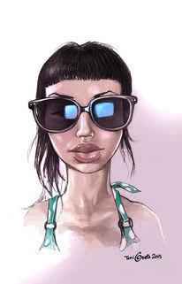 Sonnenbrillen, Portrait, Gesicht, Frau